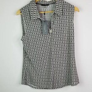 Tommy Hilfiger Logo NWT Sleeveless Collared Top